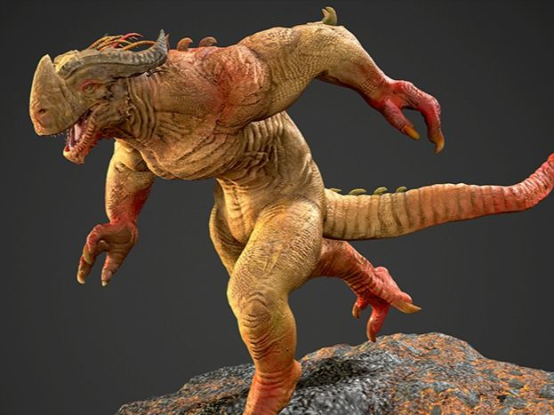 3D Dragon Creature