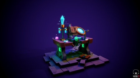 wizard table Stylized