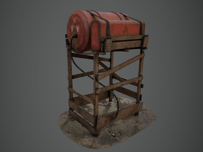 Old Fuel Tank - High Quality Game Asset