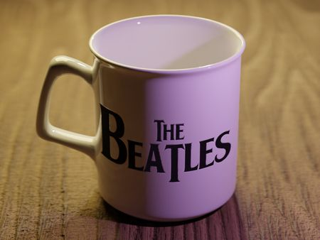 A The Beatles cup model.