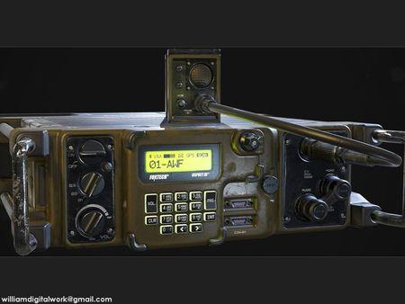 RT-1523 Military Radio - Game Ready Model