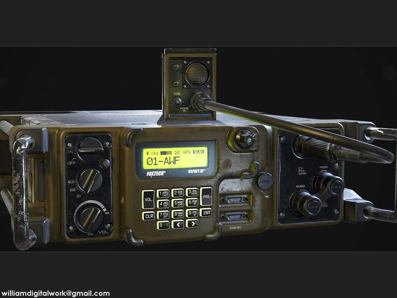 RT-1523 Military Radio - Game Ready Model