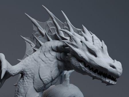 Sea Dragon Sculpt