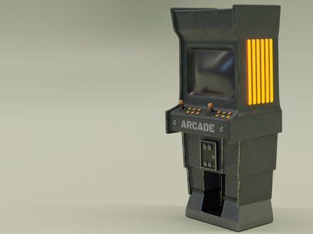 Retro arcade machine (study)