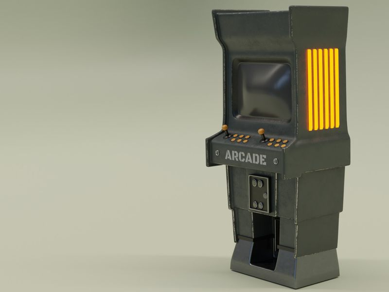 Retro arcade machine (study)