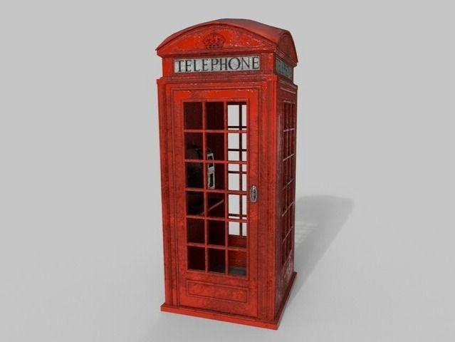 London Phone Kiosk ( Vintage Version)
