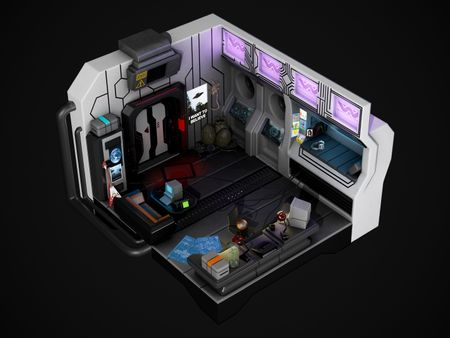 Weekly Drill #34 - Isometric Sci-Fi Room