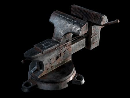 "Vintage Chief L4 4"" Bench Vise"