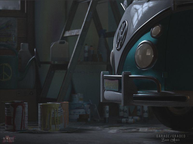 Hippie Garage scene