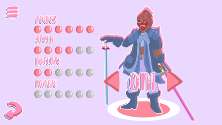 Oni - Mobile game Character Concept