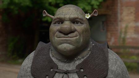 An interpretation of Shrek in real world.