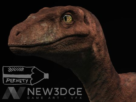 Velociraptor Fan Art from Jurassic Park