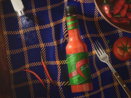 Product Visualization - Hot Sauce
