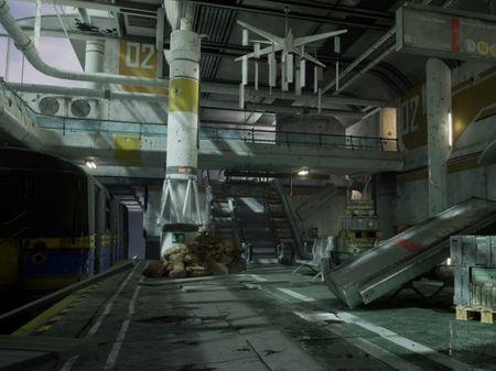 Environment – Battle Torn Modern Train Station