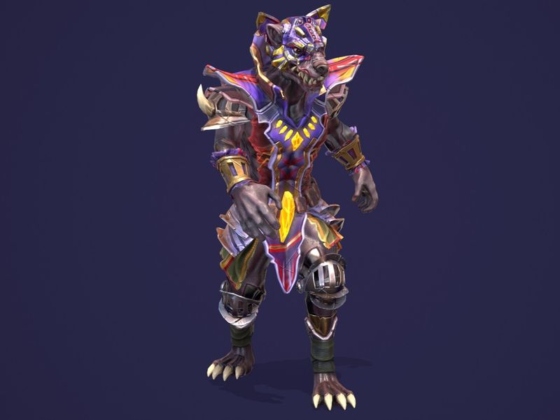 Alien Cyborg wolf