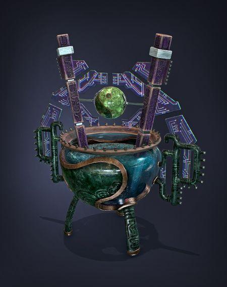 "Futuristic Chinese Cauldron ""Ding"""