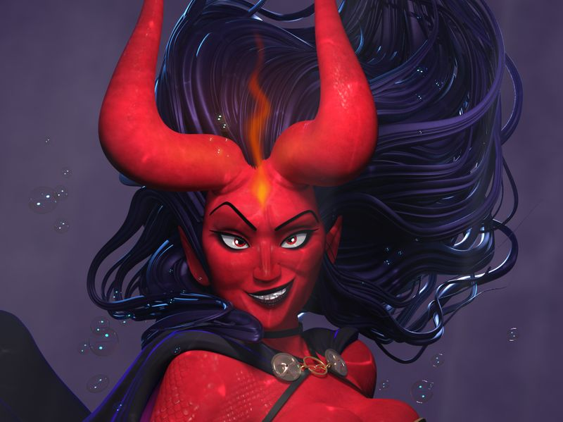 Devil mermaid
