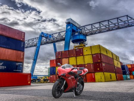 Ducati 848 motorbike