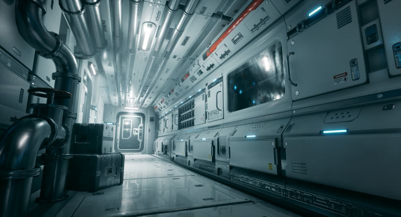 """Hephaex Side Corridor"" Modular Sci-Fi Environment"
