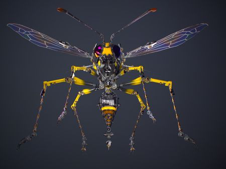 Mechanical Wasp (concept & design by 宇田川 誉仁 Udagawa Yasuhito)