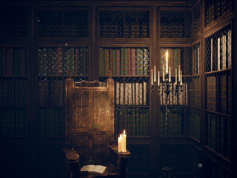 Gothic Library Scene in UE4