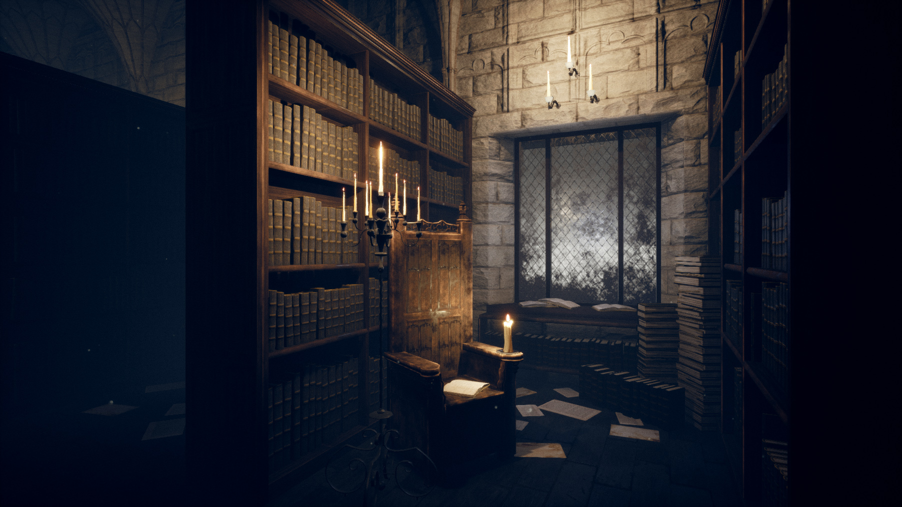 Gothic Library Scene in UE4 | The Rookies