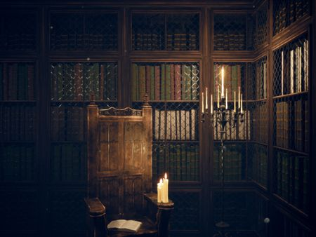 Gothic Library Scene in UE4