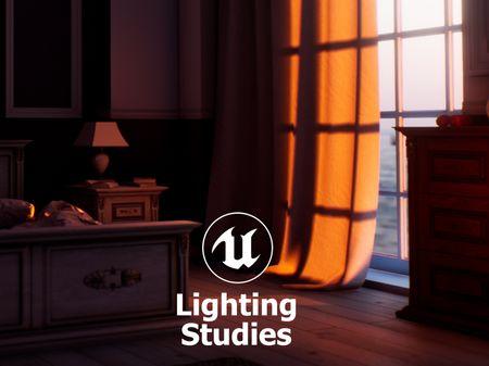 UE4 Lighting Studies - Sunset interior