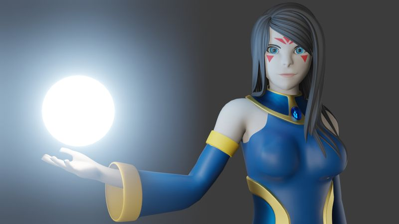 2D to 3D Sorceress Model