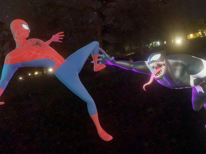 Spider Man VS Venom 3D Model