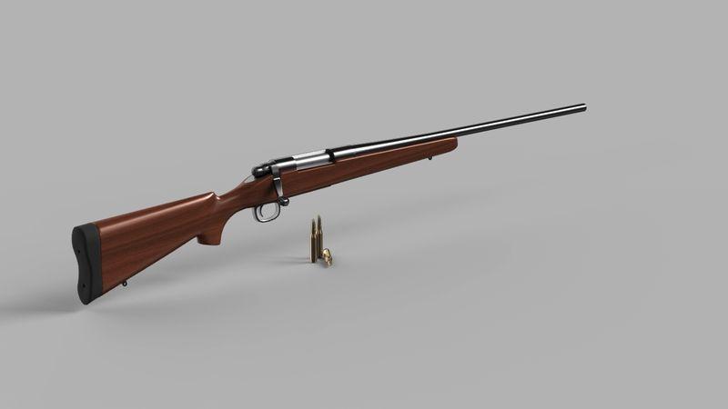 Remington 700 Rifle 3D Model