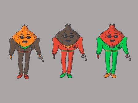 Pantalla de personajes animada