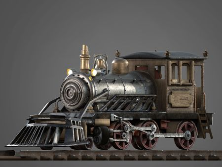 Steampunk Train and Stylize Game Environment