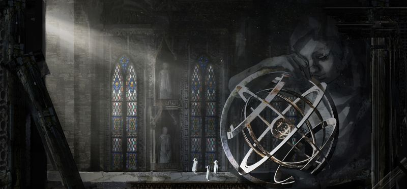 Ancient Holy Site, Marble Goddess and Armillary sphere