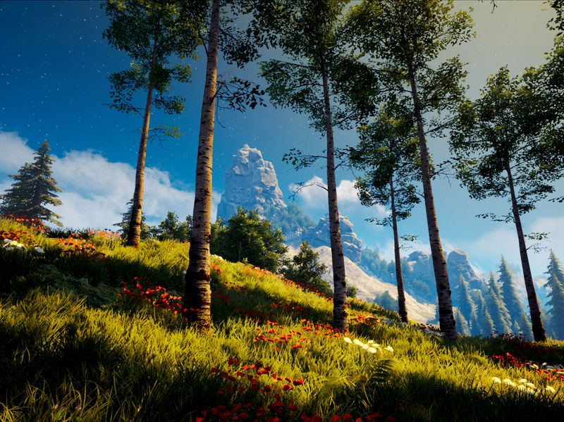 Procedural Forest Terrain with Houdini and UE4