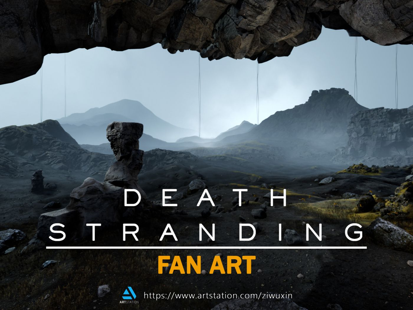 Procedural Death Stranding Fan Art Landscape with Houdini and UE4