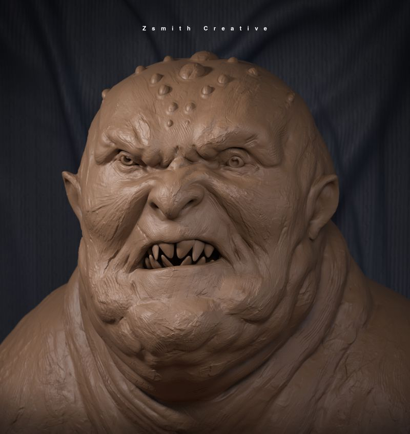 Orc Clay Render