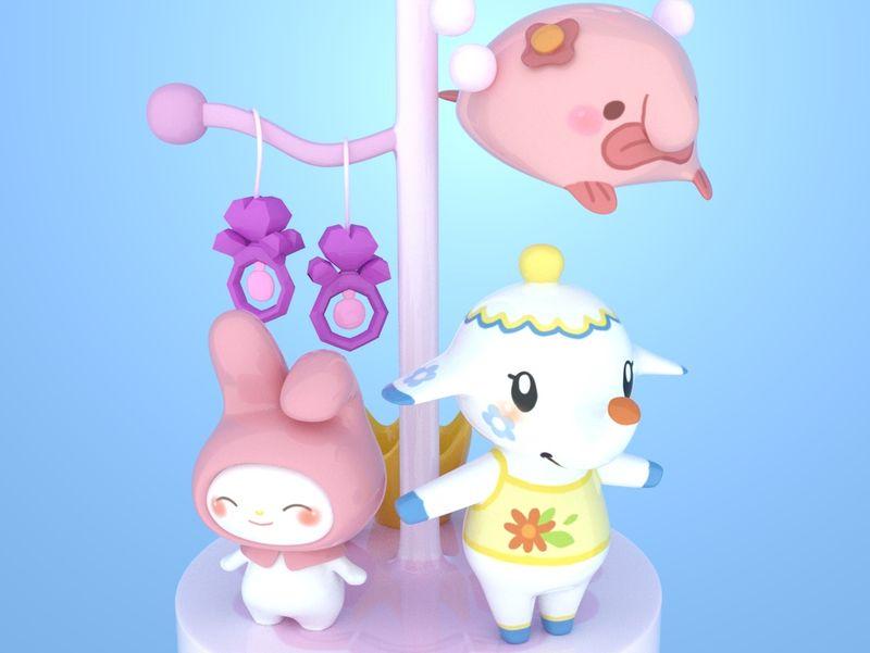 Jewels - 3D Cute Animals Model